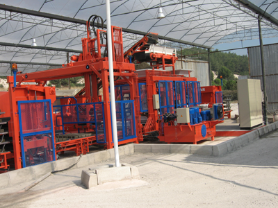 Concrete block making machine kpm 1025 with facing layers